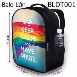 Balo Teen - Học sinh - Laptop Keep Calm and Have Pride - VBLDT001