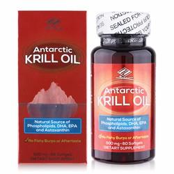 Viên uống dầu nhuyễn thể giảm mỡ máu Antarctic Krill Oil 60 viên