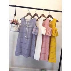 Đầm suông rớt vai ren cao cấp- Hàng nhập gốc