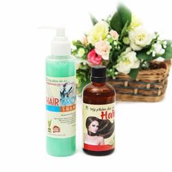 Bộ combo dầu gội và tinh dầu bưởi ngăn rụng và mọc tóc