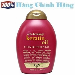 Dầu xả dưỡng tóc OGX Anti-Breakage Keratin Oil Conditioner 385ml