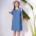 Đầm suông cắt vai OpenBow Shoulder Dress