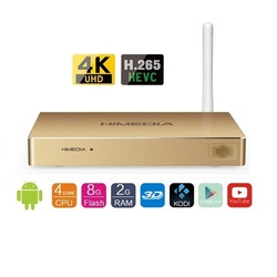 Android TV Smart Box Himedia Q8 IV Vàng