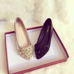 Giày búp bên Miu miu kết hoa cực xinh