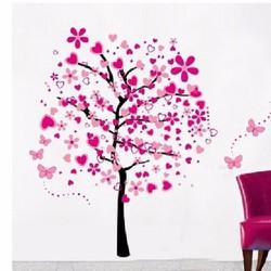 Decal dán tường Cây hồng lớn