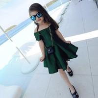 Đầm bé bẹt vai xinh xắn - DB010