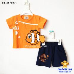 Bộ short thun Nemo màu cam size 1-8