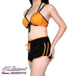Đồ bơi nữ hai mảnh quần short bikini HS Swimsuit