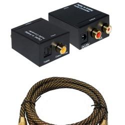 Bộ chuyển âm thanh TV 4K amply,Cáp quang mạ vàng 24k-TM shop