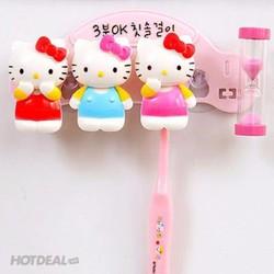 Bộ Kệ 03 Dụng Cụ Chứa Bàn Chải Đánh Răng Hello Kitty