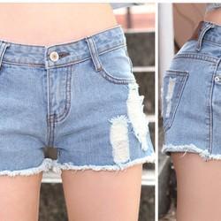 Quần short jeans nữ lưng thấp