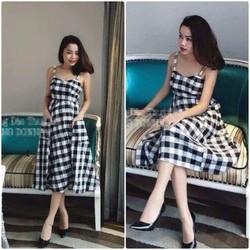 Đầm caro xinh yêu - NR01