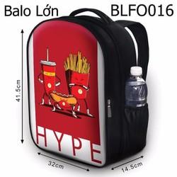 Balo Teen - Học sinh - Laptop Thức ăn nhanh HYPE - VBLFO016