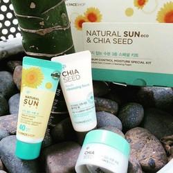 Set dưỡng mini cho da dầu Natural Sun Eco Chia Seed TheFaceShop