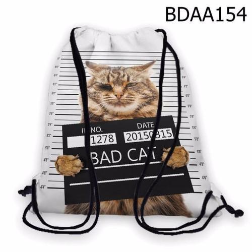 Balo dây rút - Túi rút bộ thú Mèo Bad Cat HOT - VBDAA154