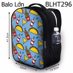 Balo Teen - Học sinh - Laptop Thức ăn nhanh - VBLHT296