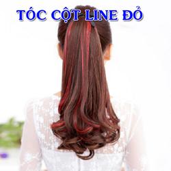 tóc cột line đỏ