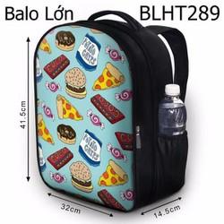 Balo Teen - Học sinh - Laptop Những món ăn vặt - VBLHT289