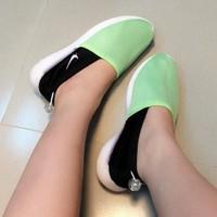 Giày Sneaker Nữ Xanh Min