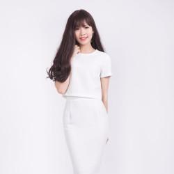Áo croptop trắng