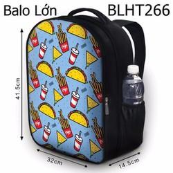 Balo Teen - Học sinh - Laptop thức ăn nhanh - VBLHT266