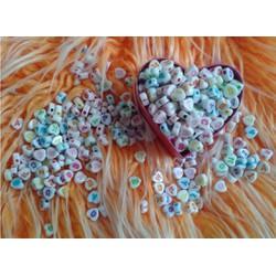 Hạt trái tim in chữ cái làm vòng handmade 50g