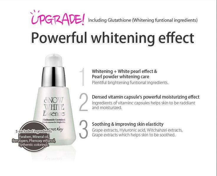 Tinh chất đặc trị trắng da Snow White Essence Secret Key 30ml 5
