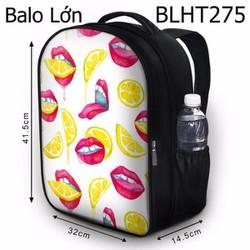 Balo Teen - Học sinh - Laptop môi và chanh - VBLHT275