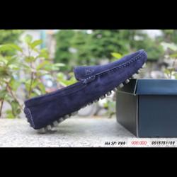 H69 - Giày lười Allen Edmonds da lộn màu xanh navy
