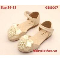 [Size 26-33] Giày Bé Gái Đính Ngọc Trai