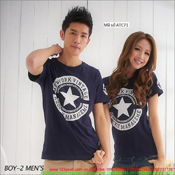 Áo thun cặp tình nhân logo NY quà tặng yêu thương xATC71