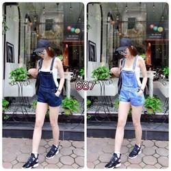 Yếm short Jean 2 màu 3size S,m,l - A25401
