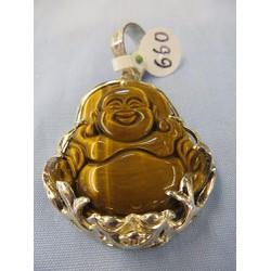 Mặt dây chuyền bọc bạc  - Phật di lặc . đồ phong thủy, trang sức