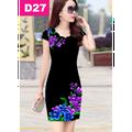 Đầm in hoa 3D quý phái
