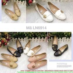 Giày mọi da nữ thiết kế khóa tròn sang trọng GM115