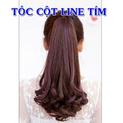 tóc cột line tím