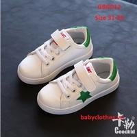 [Size 31-35] Giày Bata trắng phối ngôi sao xanh