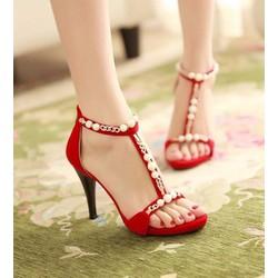 Giày Cao Gót đính Ngọc Trai -CG002200