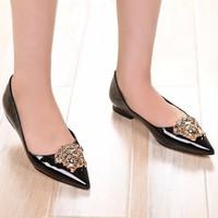 Giày búp bê Versace da cao cấp - LN381