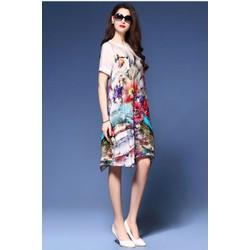 Đầm voan nhung Korea Style