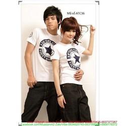 Áo thun cặp tình nhân logo NY chấp cánh yêu thương xATC36