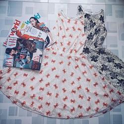 Sale - Đầm Xòe Cổ Yếm