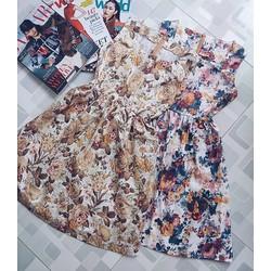 Sale - Đầm xòe Hoa Vintage