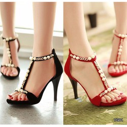 Giày cao gót đính ngọc trai VG01195TTVN