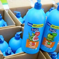 Sữa tắm gội Suave Kid 3in1 Táo - Dưa hấu - 1180ml