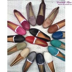 Giày mọi da nữ công sở Clark bền đẹp sang trọng GM121