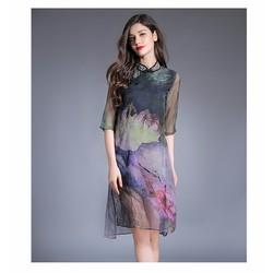 Đầm suông Sen Hồng