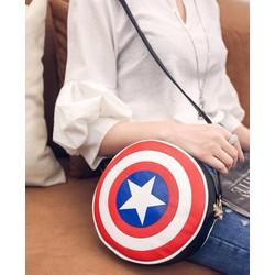 Túi đeo chéo Da Pu captain america