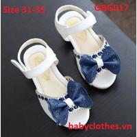 [Size 31-36] Giày Sandan Bé Gái Đính Nơ Cực Xinh
