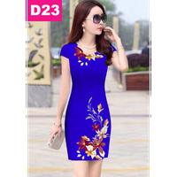 Đầm đẹp sang trọng in hoa 3D